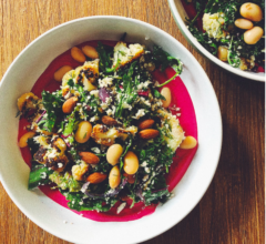 Cauliflower salad with zingy beetroot dressing